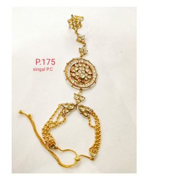 Traditional Gold Plated Pearl & kundan Design Hath Panja 1368