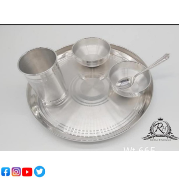 silver dinner set for babies RH-BS585