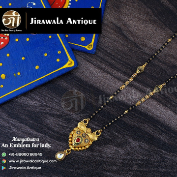 22KT Gold Antique Jadau Mangalsutra MSG0325