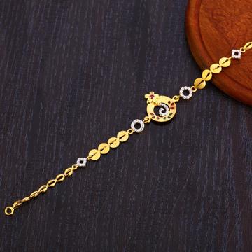 22CT Gold Classic Ladies Bracelet LB308