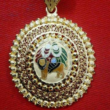 22KT Gold Antique Chamunda Maa Pendant