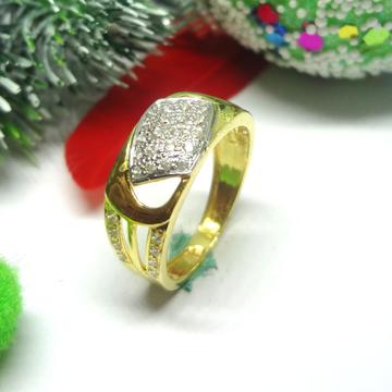 916 gold cz diamond gents ring