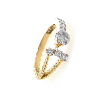 Mignonne Diamond Ring in 18k Yellow Gold - 3.770 grams - VVS EF 0.39 carats - 0LR61