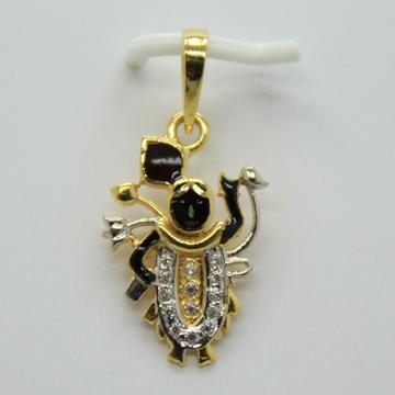 22k cz God chain pendant