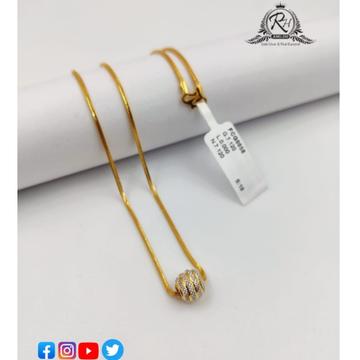 22 carat gold classical ladies chain RH-CH577