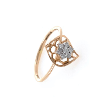Flower with Gold Petal in 18k Rose Gold - 1.740 grams - VVS EF - 0.13 carats - 0LR55