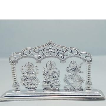 99.9 Silver Hallmark Ganesh Ji Laxmi Ji & Sarawast... by