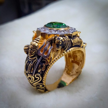 916 gold fancy gent's temple jewellery ring