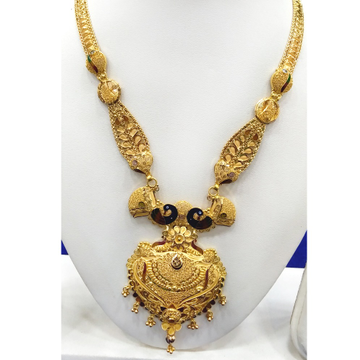 916 Gold Peacock Design Long Necklace RJ-N009