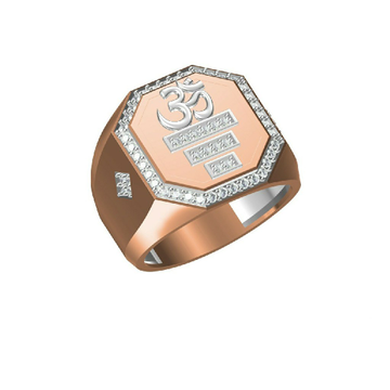 Exclusive Om Design Daily Wear Men's Rose Gold Ring-31319