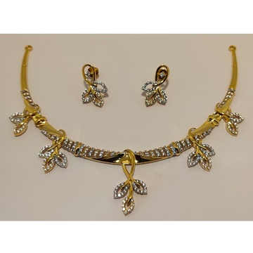 22KT Gold Fancy Diamond necklace Set AJ - N003
