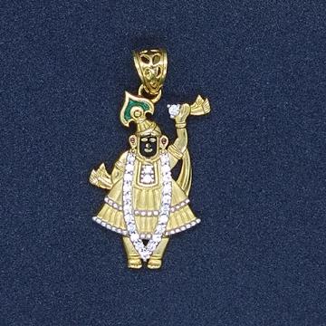 916 gold  srinathji pendant tj-040