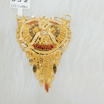 22k gold antique pendant