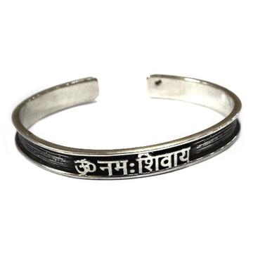 925 Sterling Silver Gents Om Kada Bracelet MGA - BRS0329