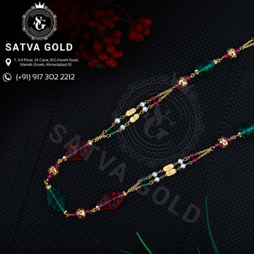 22KT Gold Colorful Mala MLG-0026