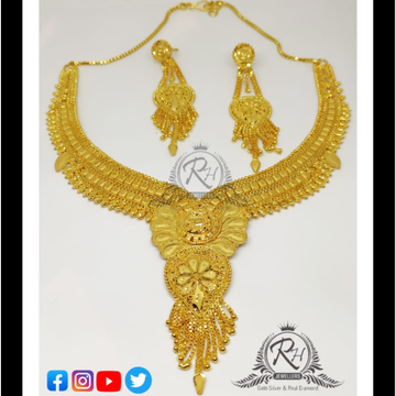 22 carat gold ladies necklace set RH-LN290
