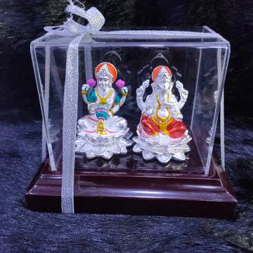 92.5 Sterling Silver Laxmi Ganesha Hindu Idol Statue
