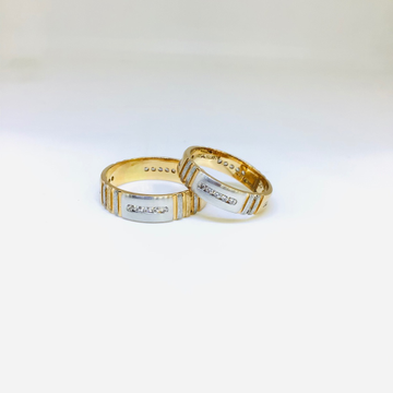 BRANDED FANCY ROSE GOLD COUPLE RINGS by