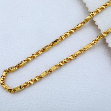 Mens 22K Plain Gold Chain-MCH16