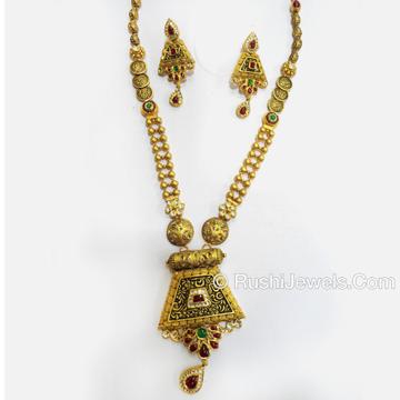 Antique Floral 22KT Gold Long Necklace