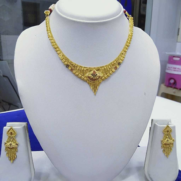 916 Gold Necklace Set RJ-N007 by