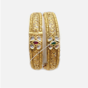 916 Gold Antique Wedding Bangles RHJ-4643