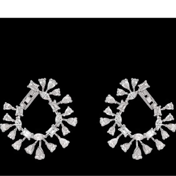 Diamonds Ear Hangings JSJ0014