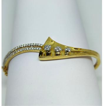 22K designer gold and diamond ladies bracelet