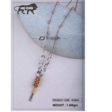 18 carat Italian ladies fancy gold chain exclusive chian ifg0041