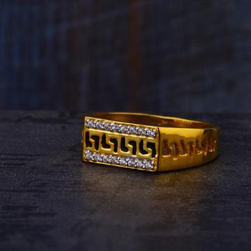 916 Gold Cz Mens Stylish Ring MR532