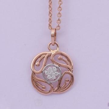18 carat gold real daimonds pendants RH-LP952