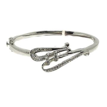 925 sterling silver modern style bracelet mga - krs0049