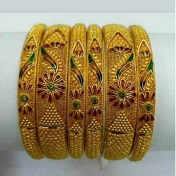 916 Gold Calcutti Design Bangles Kada by