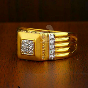 22ct Pricious Cz Gold Gents Ring