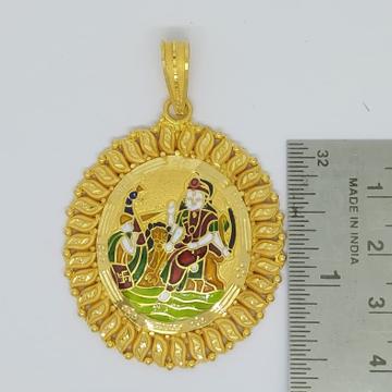 916 Gold Fancy Vahanvati Maa Pendant