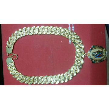 22K / 916 Gold Gents Krishna Modern Pendant Chain