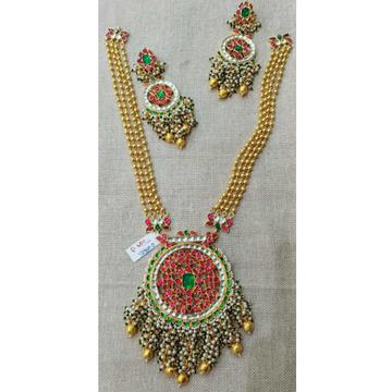 Jadau Colourful Pachi Kundan's Pendant With Golden Magmala1078