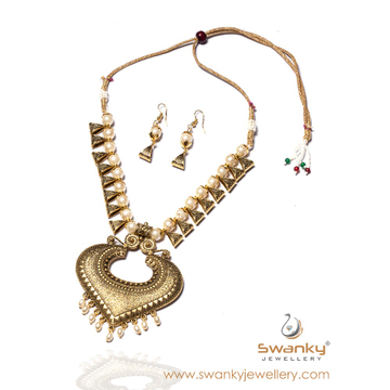 Indian design classic necklace set for women sj-n0... by Swanky Jewellery