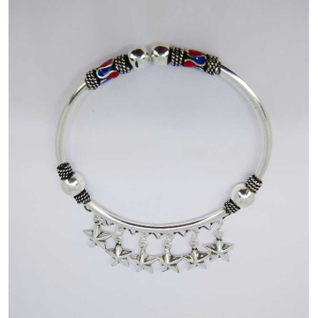 Oxidize enamel flexible ladies kada bracelet MG-B004