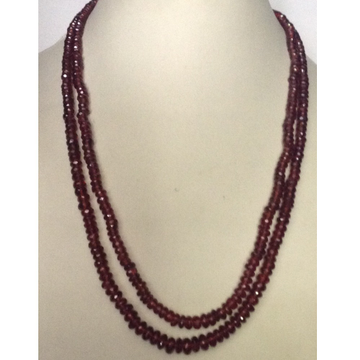 Natural Brown Garnet Faceted Beeds 2 Layers Necklace