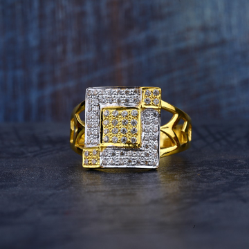 Mens Gold Cz New Collection Ring-MR182