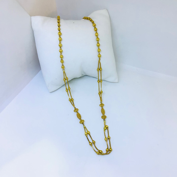 DESIGNING FANCY ANTIQUE GOLD MALA FOR LADIES by