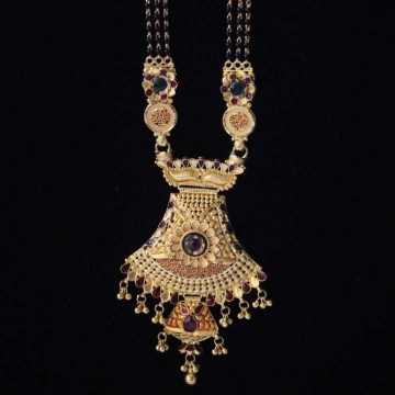 22 K Gold Antique Mangalsutra. NJ-M01115