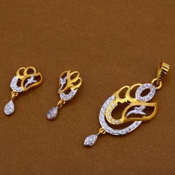 22 carat gold antique ladies pendants set RH-PS716