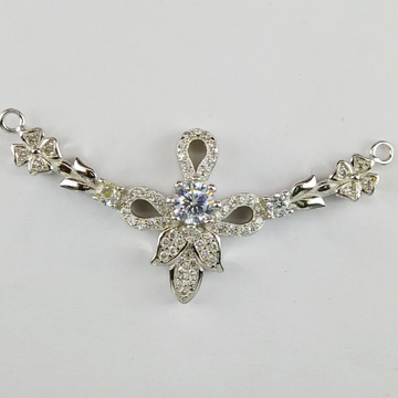 92.5 Sterling Silver CZ Mangalsutra Pendant ml-28