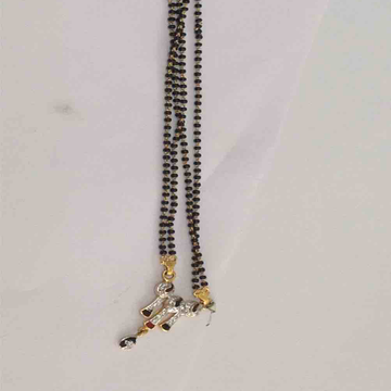 916 Gold Black Beads Mangalsutra
