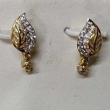 22kt/916 Gold Designer Leaf Shape Ladies Earring