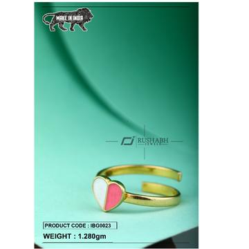 18 carat gold Kids ring heart ibg0023 by