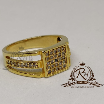 22 Carat gold gents engle diamond ring RH-GR904