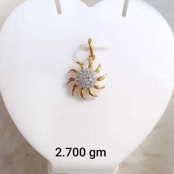 916 Gold CZ Surya Design Pendant KG-P05 by